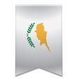 Ribbon banner - cypriot flag vector image