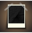 Vintage retro photo hanging on a stone wall with vector image