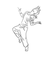 Hip-hop woman dancer vector image