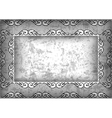 Abstract frame with grunge background vector image