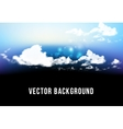 beautiful background with clouds vector image