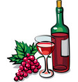red dry wine vector image