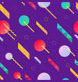 colorful seamless pattern with dynamic design vector image vector image