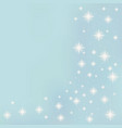 Shining stars on a blue background vector image vector image