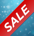 Winter sale big red ribbon vector image vector image