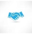 handshaking vector image vector image