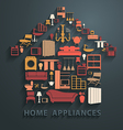 Flat design concepts home appliances icons vector image vector image
