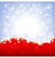 Red and white Christmas background vector image vector image