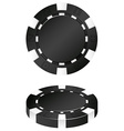 Two black casino chips vector image vector image