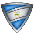 steel shield with flag nicaragua vector image vector image