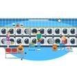 Laundromat vector image