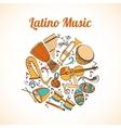Latino musical card vector image