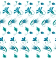 Blue Green Turkish Folk Floral Stripes vector image