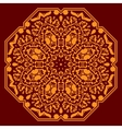 Circular ornament with orange elements vector image