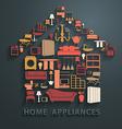 Flat design concepts home appliances icons vector image
