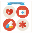 Flat Health Website Icons Set vector image
