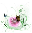 Floral Splash and Butterfly vector image