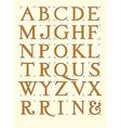 Modern roman alphabet vector image