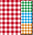 Retro tablecloth texture vector image