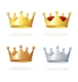 Set of royal crowns vector image