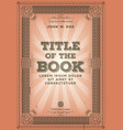 vintage retro book cover design vector image