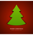 Christmas tree from cut paper vector image