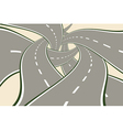 Crossing Tangled Roads vector image vector image
