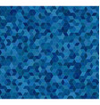 Blue 3d cube mosaic pattern background vector image
