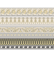 Set of four decorative borders vector image vector image