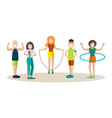 sports training people in flat vector image