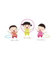 Kids PlayingHula Hoop vector image