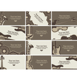 business card music vector image vector image