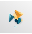 Modern abstract geometric info banner vector image