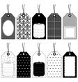 traditional tags vector image vector image