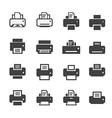 print icon set vector image vector image