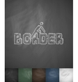 BORDER icon Hand drawn vector image