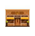 cafe facade restaurant building with showcase vector image