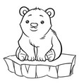 cute cartoon baby polar bear vector image