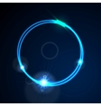 Glow blue neon ring shiny background vector image