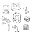 Hand drawn education infographic elements vector image