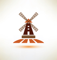 windmill symbol agriculture concept vector image