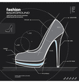 Woman shoe design vector image