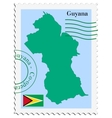mail to-from Guyana vector image