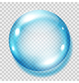 Big transparent light blue sphere vector image