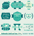 Vintage Mathematics Class Labels and Icons vector image