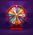 realistic 3d spinning fortune wheel lucky vector image