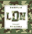 camouflage typography for clothes with lettering vector image
