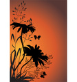 Wildflowers in the evening vector image vector image
