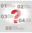 question mark polygon infographic element with vector image