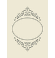 Vintage border frame with retro ornament pattern vector image vector image